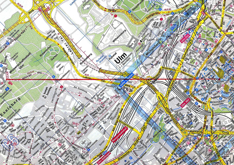 Die Verbindungslinie zwischen der Stadt Ulm und der Wissenschaftsstadt Ulm