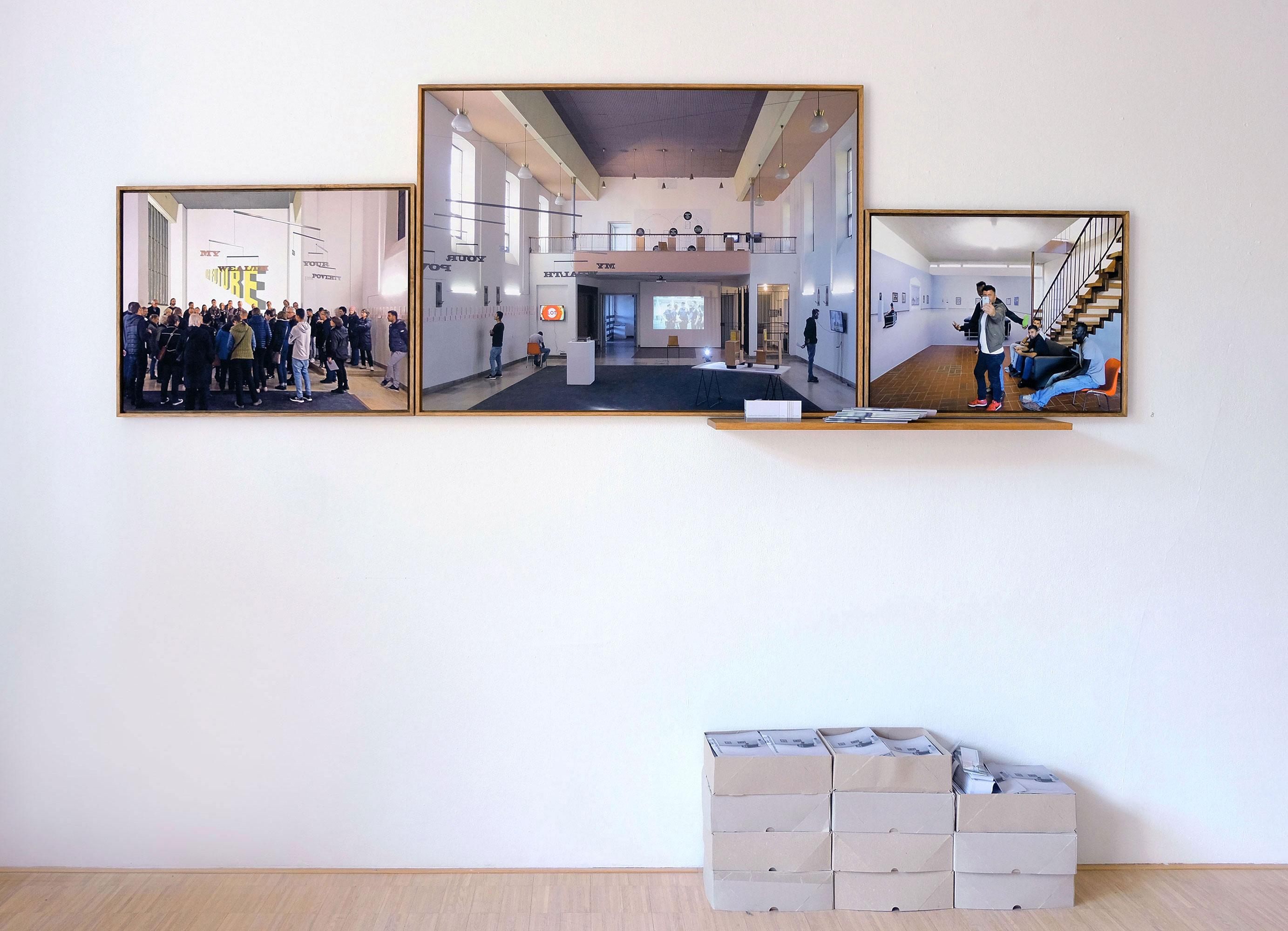 performen@kunstmuseen 1 (Triptychon mit Werbung)